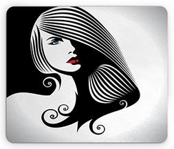 Ambesonne Contemporary Mouse Pad, Abstract and Artistic Woma