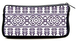 Cool Pencil Case purple Illustrated Cosmetic Makeup Bag