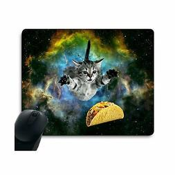 Curious Cat Flying Through Space Reaching for a Taco in Gala