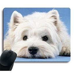 Cute Dog Puppy Lie on The Ground Leisurely Mouse Pad