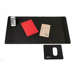 Desk Pad Mat Bundle w/Gaming Mouse Pad Large Extended Writin