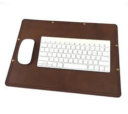 Marlondo Leather Desk Pad - Small Dark Brown Leather Office