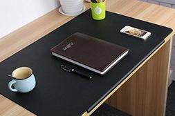 LOHOME Desk Pads Artificial Leather Laptop Mat with Fixation