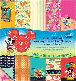 """Disney Double-Sided Specialty Paper Pad 12""""X12"""" 24 Sheets-Mi"""