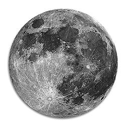 """Earth Grey moon Customized Round Mouse Pad 7.8""""X7.8"""" inch"""