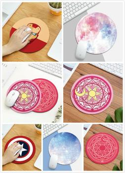 Fashion Circle Round Mouse Pad Mat Rubber Mousepad For Optic