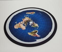 Flat Earth 8 Inch Round Non-Slip Rubber Computer Mouse Pad
