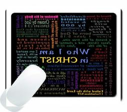 Wknoon Gaming Mouse Pad Custom, Christian Bible Verse Script