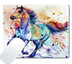 Wknoon Gaming Mouse Pad Custom Design Mat, Watercolor Runnin