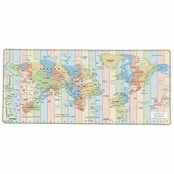 Gaming Mouse Pad Desk Office Mouse Mat Large Size World map
