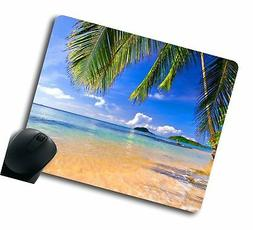 gaming mouse pad shore palms tropical beach