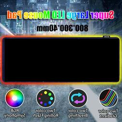 Gaming RGB Mouse Pad Extra Large Extended Smooth Surface Ant