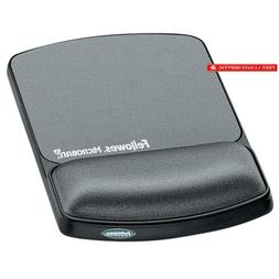 Fellowes Gel Wrist Rest & Mouse Pad With Microban, Black