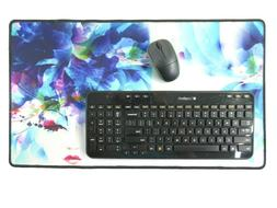 Giant Jumbo Mouse Pad Gaming Desk Blotter Protect Mat Floral