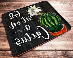 Go Sit On A Cactus Funny Quote Watercolor Floral Mouse Pad S