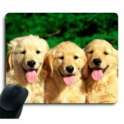 Golden Retriever with Smiling Face Customized Dog Mouse Pad