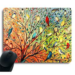 Gorgeous Illustration Painting 16 Birds Stand on The Tree Mo