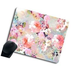 Gorgeous Watercolor Pink Flowers Pattern Decorative Mouse Pa