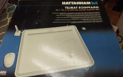 Manhattan Graphics Tablet - USB, Wireless Mouse and Pen, 9""