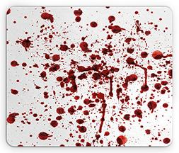 Ambesonne Horror Mouse Pad, Splashes of Blood Grunge Style B