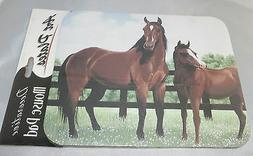 HORSES Mouse Pad Pasture Fence Non-Slip Rubber Backing New C