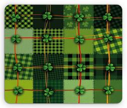 Ambesonne Irish Mouse Pad, Patchwork Style St. Patrick's Day