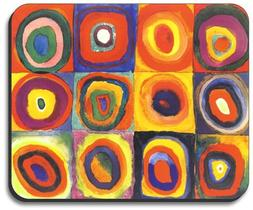 Kandinsky: Farbstudie Quadrate Mouse Pad - By Art Plates