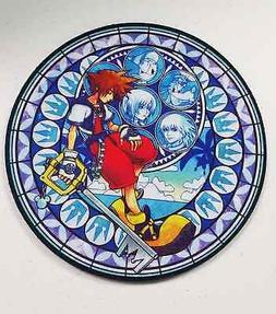Kingdom Hearts Video Game Sora Stained Glass Round Neoprene