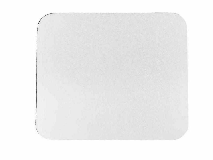 10 blank white 1 8 plain mousepad