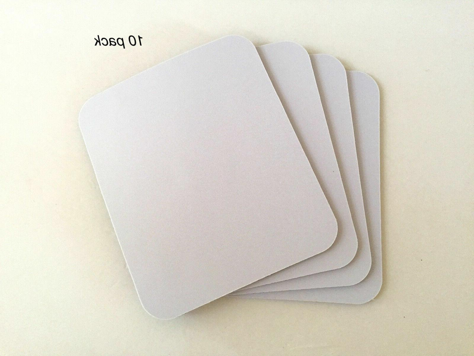 10 pack mousepad mouse pad white blank