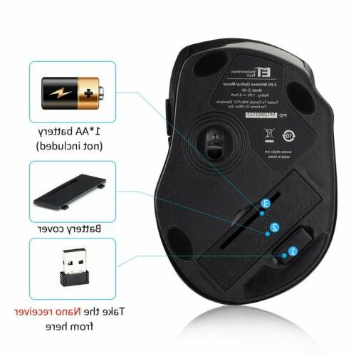 VicTsing 2.4Ghz Optical Gaming Mouse + USB