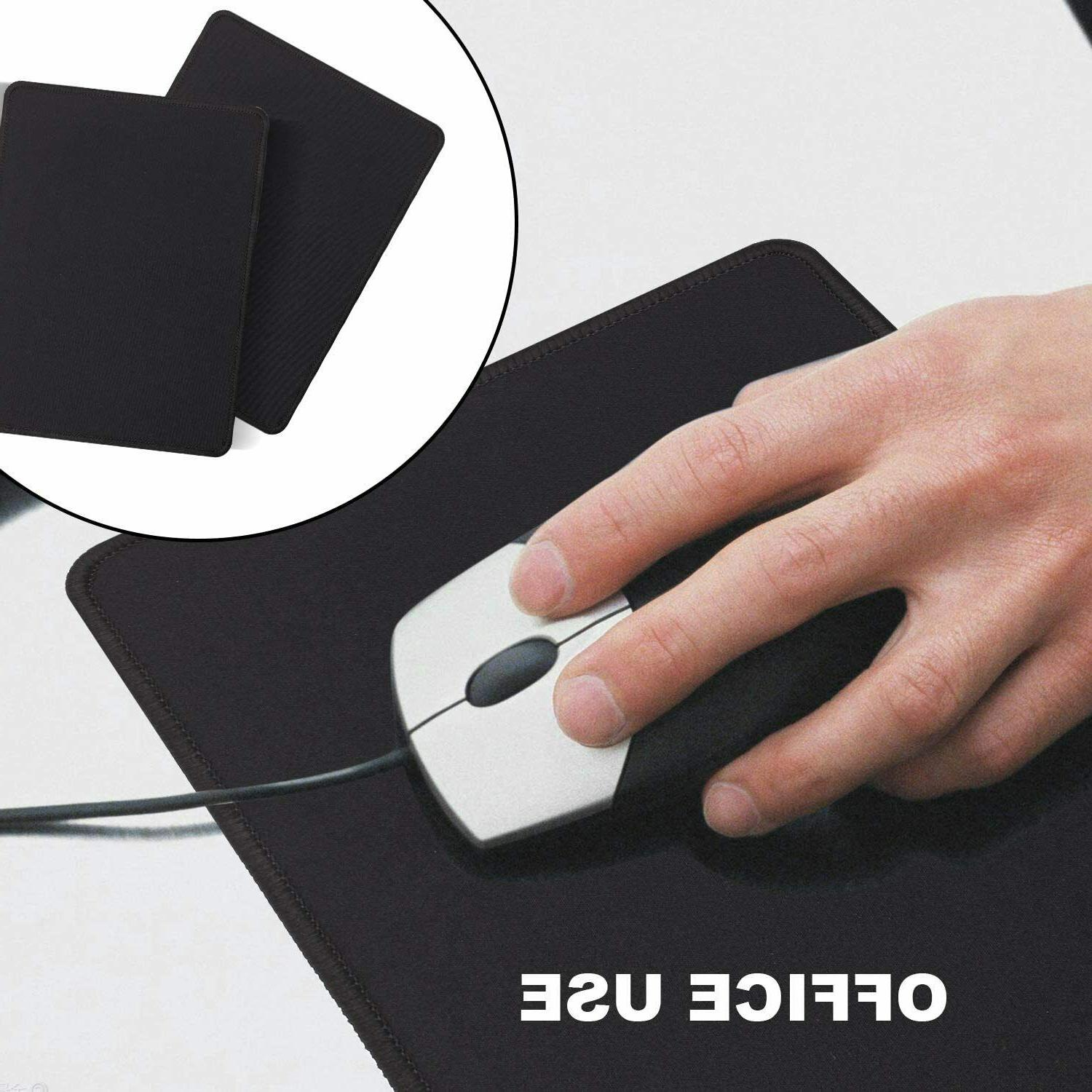 2-Pack Mouse Pad Stitched Edge Antislip Gaming Computer