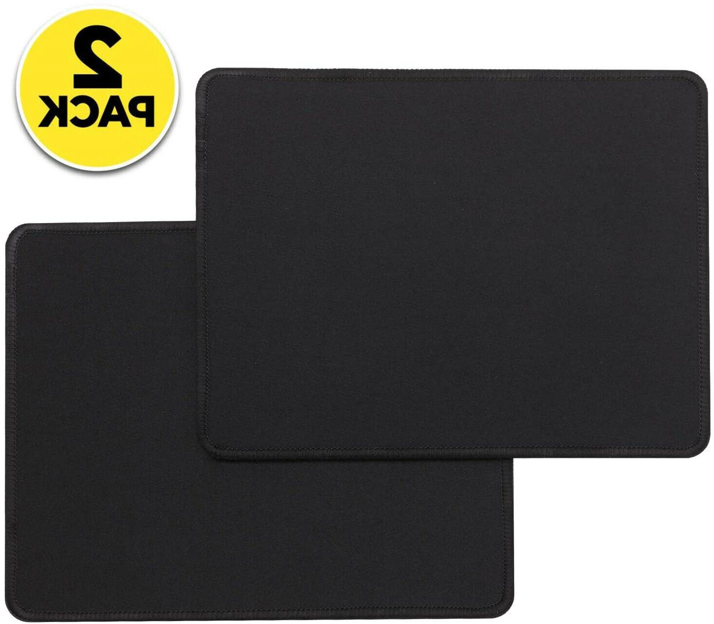 2 pack mouse pad mat stitched edge