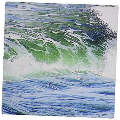 3dRose LLC 8 x 8 x 0.25 Inches Mouse Pad, Seafoam Green/Blue