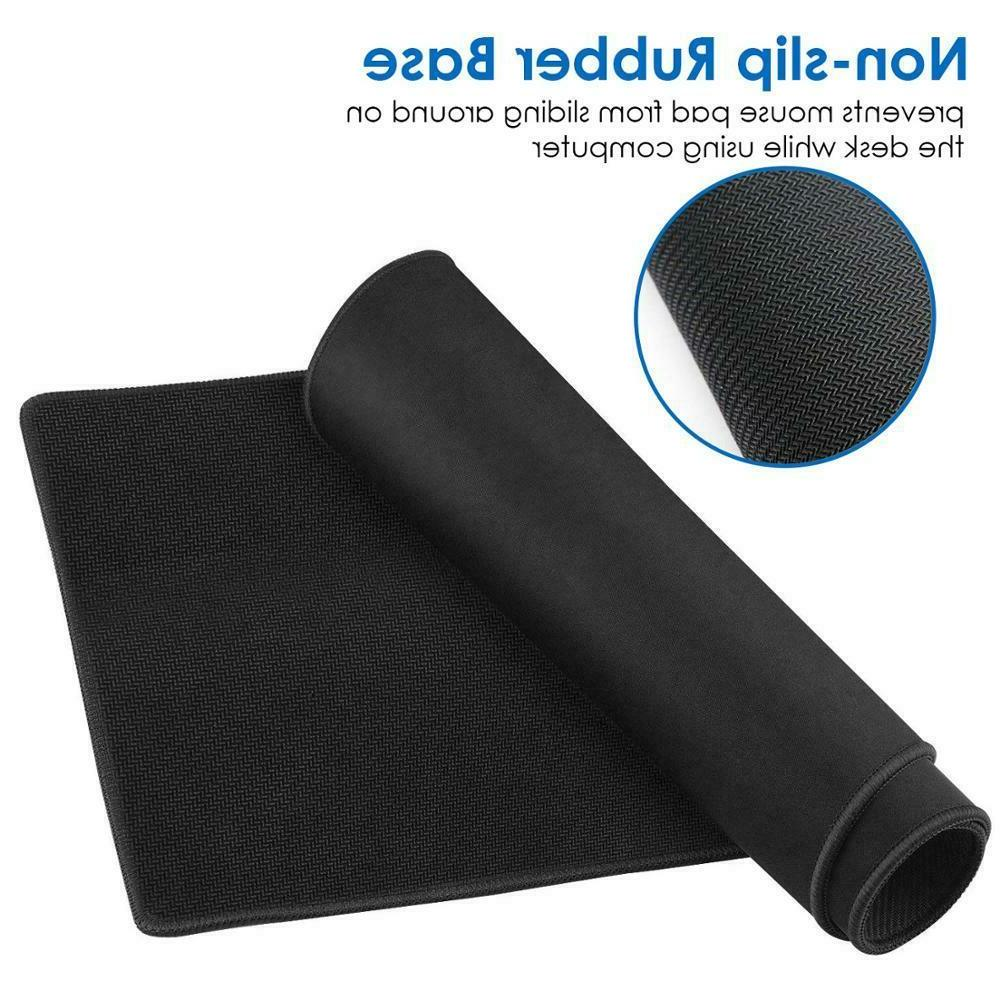 2-Pack Mouse Pad Mat Stitched Edge Antislip Computer Keyboard