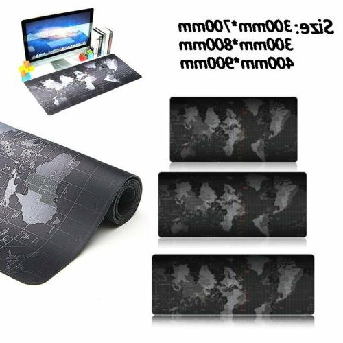 800*300*2MM Anti-Slip Rubber Map Office Mouse Pad XL Size