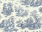 BLUE TOILE   MOUSE PAD  IMAGE FABRIC TOP RUBBER BACKED