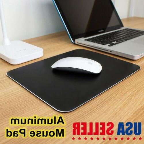 Black Aluminum Mouse Pad Computer Gaming Mouse Mat  for Home