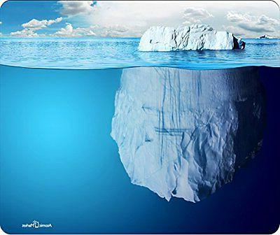 Clear Blue Iceburg Mouse Pad