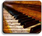 Decorative Mouse Pad Piano Keys Music Notes Non-Slip 9.25x7.