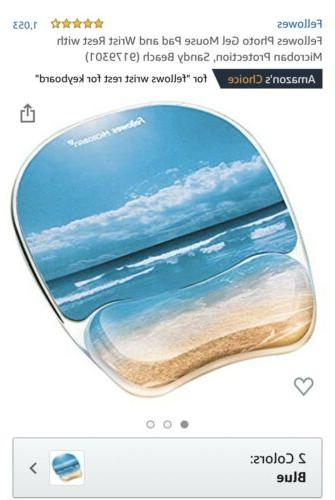 Durable Lightweight Gel Mouse Pad Antimicrobial Ergonomic Wr