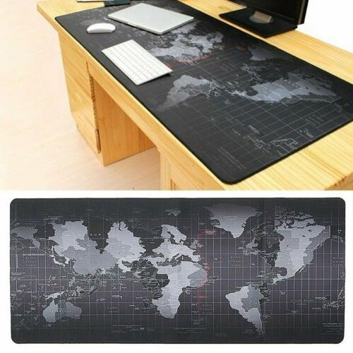 800*300*2MM Anti-Slip Rubber World Map Office Game Mouse Pad