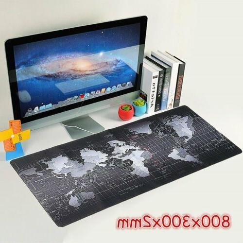 Extended Gaming Mouse Pad Large Size World Map Edge 700x300// 800x300// 900x400mm