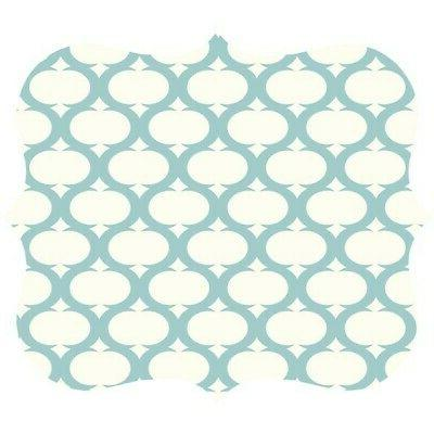 Fellowes 5919001 Designer Mouse Pad Teal Lattice Pattern