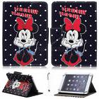 "For 7"" -10.1"" Tablets Black Minnie Mouse Universal Leather C"
