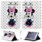 """For 7"""" -10.1"""" Tablets Pink Minnie Mouse Universal Leather Ca"""