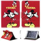 "For 7"" -10.1"" Tablets Red Mickey Mouse Universal Leather Cas"