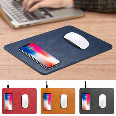 2 in 1 Qi Wireless Charger Charging Pad Mouse Mat For iPhone