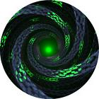 GREEN LIGHT SPIRAL ROUND MOUSE PAD MOUSEPAD GIFT