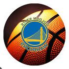 Golden State Warriors Basketball Round Mousepad Mouse Pad Gr